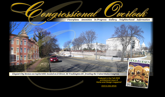 screenshot of real estate development site designed by Lauren Brush